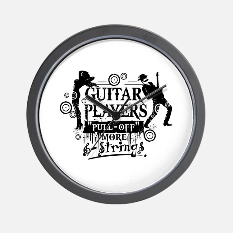 Guitar Player slogan Wall Clock