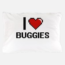 I Love Buggies Digitial Design Pillow Case