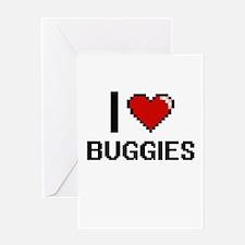 I Love Buggies Digitial Design Greeting Cards