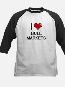 I Love Bull Markets Digitial Desig Baseball Jersey