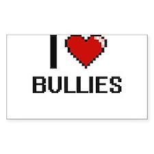 I Love Bullies Digitial Design Decal