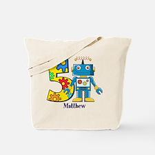 5th Birthday Robot Custom Tote Bag