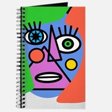 Girl With Blue Face Journal