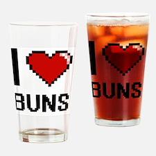 Unique Hair bun Drinking Glass