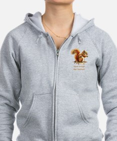 Never Enough Red Squirrels Fun Animal Quote Zipped