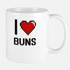 I Love Buns Digitial Design Mugs