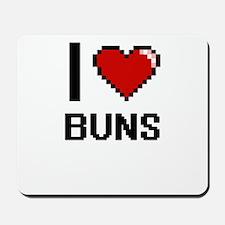 I Love Buns Digitial Design Mousepad