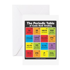 Comics Periodic Table Greeting Cards (Pk of 10)