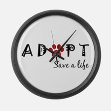 Funny Adopt Large Wall Clock