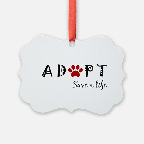 Cute Dog adoption Ornament