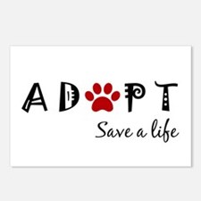 Cute Rescue animals Postcards (Package of 8)