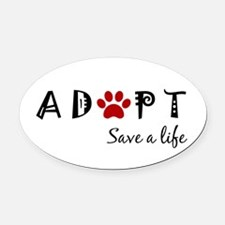 Unique Animal rescue Oval Car Magnet