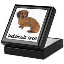 Daschshunds Rock Keepsake Box
