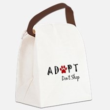 Adopt. Don't Shop. Canvas Lunch Bag