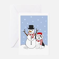 Old English Sheepdog Holiday Greeting Card