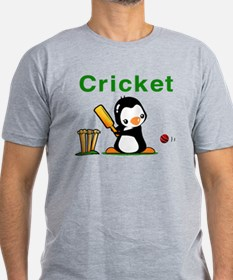 Cricket Penguin Men's Fitted T-Shirt (dark)