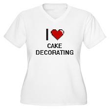 I love Cake Decorating Digitial Plus Size T-Shirt