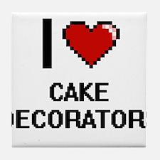 I love Cake Decorators Digitial Desig Tile Coaster