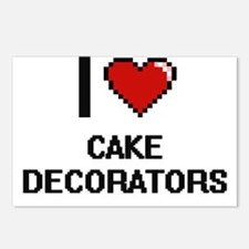 I love Cake Decorators Di Postcards (Package of 8)
