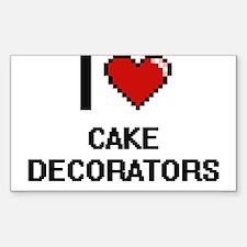 I love Cake Decorators Digitial Design Decal