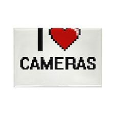 I love Cameras Digitial Design Magnets