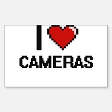 I love Cameras Digitial Design Decal
