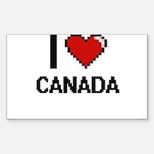 I love Canada Digitial Design Decal