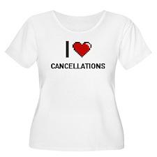 I love Cancellations Digitial De Plus Size T-Shirt