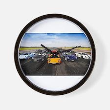 Supercars Wall Clock
