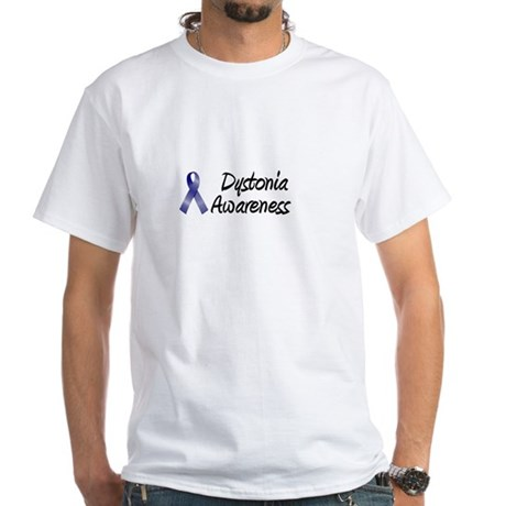 Dystonia Awareness White T-Shirt