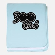 300 CLUB - PERFECT GAME SCORE BOWLING baby blanket