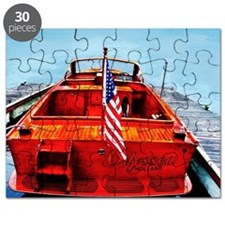 Wooden Motorboat Puzzle