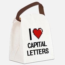 I love Capital Letters Digitial D Canvas Lunch Bag