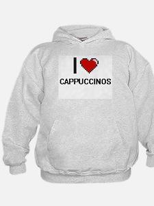 I love Cappuccinos Digitial Design Hoodie
