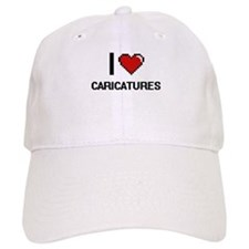I love Caricatures Digitial Design Baseball Cap