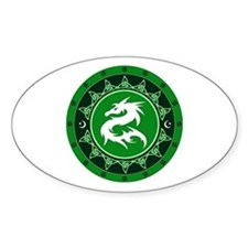 Dragon Knot 8 Oval Decal