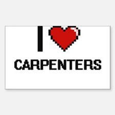 I love Carpenters Digitial Design Decal