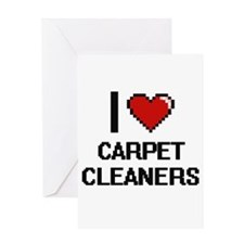 I love Carpet Cleaners Digitial Des Greeting Cards