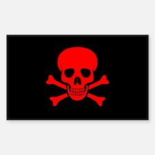 Unique Halloween pirate Sticker (Rectangle)