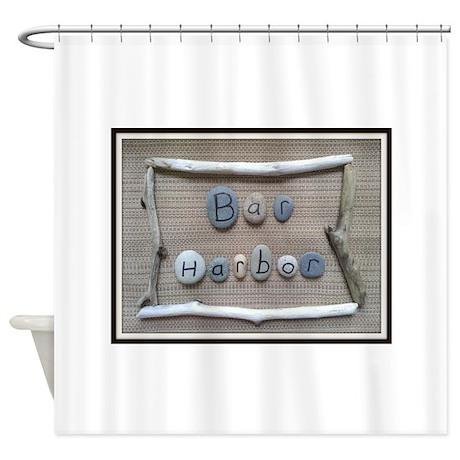 Bar Harbor Beach Stones Driftwo Shower Curtain by