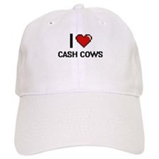 I love Cash Cows Digitial Design Baseball Cap