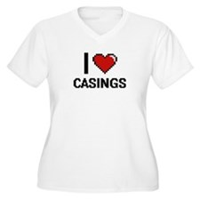 I love Casings Digitial Design Plus Size T-Shirt