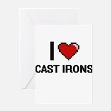 I love Cast Irons Digitial Design Greeting Cards