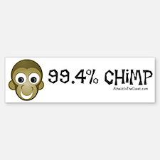 99.4% Chimp Bumper Bumper Bumper Sticker