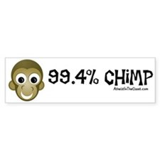 99.4% Chimp Bumper Bumper Sticker
