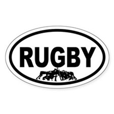 Rugby Scrum Oval Stickers