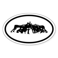 Rugby Scrum Oval Decal