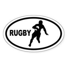 Rugby Player Oval Decal