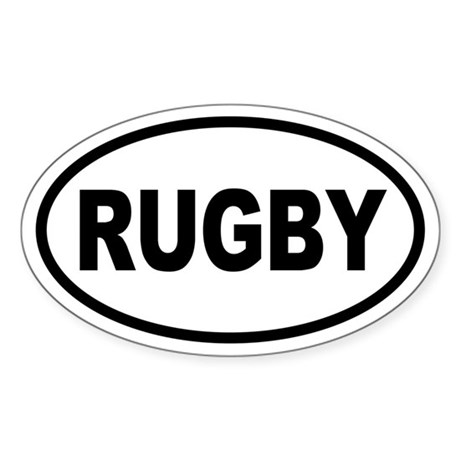 Basic Rugby Oval Sticker