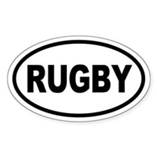 Basic Rugby Oval Stickers